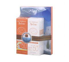 Авен набор детское солнцезащитное молочко SPF50+ 100 мл+Молочко SPF 50 100 мл+солнечная зарядка д/моб. тел. С62685