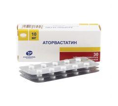 Аторвастатин таб.п/о 10мг N30