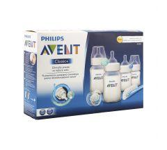 Авент набор Для новорожденных бутылочка 125млх2+бутылочка 260млх2+пустышка+щеточка д/мытья 86210/861(SCD271/00)