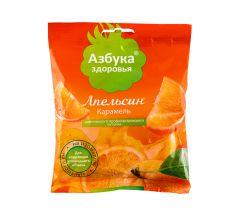 Азбука Здоровья леденцы б/сахара с натуральным соком Апельсин 50г