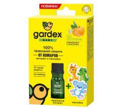 Гардекс беби природная защита от комаров экстракт+наклейки 4мл