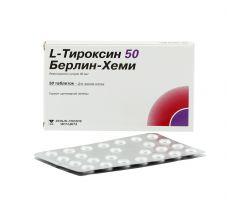 Л-тироксин таб. 50мкг №50