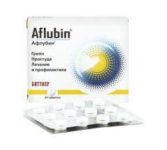 Афлубин гомеопатические таб.лингв. №24