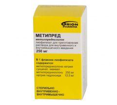Метипред амп.с р-лем 250мг №1