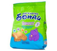 Бонди Бегемотик печенье кальций 180г