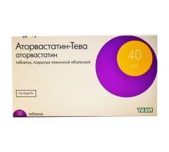 Аторвастатин-Тева таб. 40мг №30