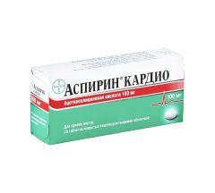 Аспирин кардио таб.п/о 100мг №28