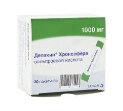 Депакин Хроносфера гранулы пролонг.действия 1000мг №30
