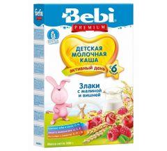 Беби каша молочная злаки/малина/вишня от 6мес. 200г