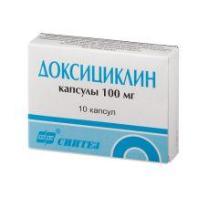Доксициклин г/хл капс. 100мг №10