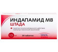 Индапамид МВ таб.п/о 1,5мг №30
