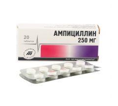 Ампициллина тригидрат таб. 0,25г №20