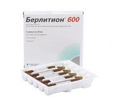 Берлитион 600 конц.д/р-ра д/инф. 25мг/мл 24мл №5