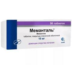 Меманталь таб. п/о плен. 10 мг №90