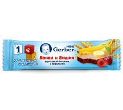 Гербер батончик Дореми банан/вишня 25г