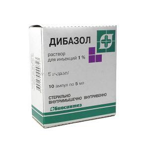 Дибазол р-р д/ин. 1% 5мл №10